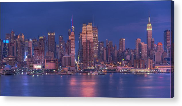 Nyc Skyline Acrylic Print featuring the photograph New York City by Kirit Prajapati