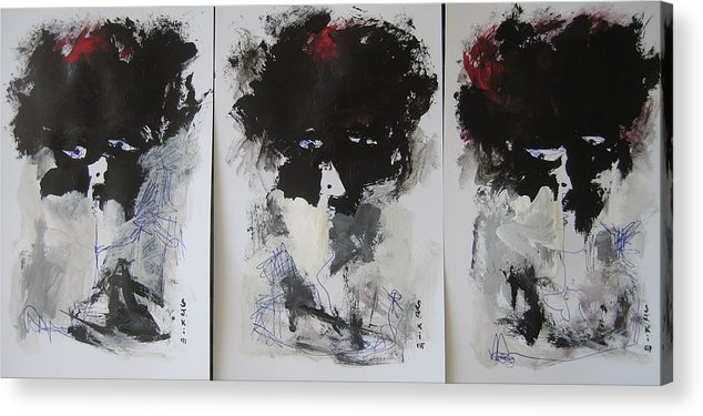 Original Acrylic Print featuring the painting Other Than 3 by Seon-Jeong Kim