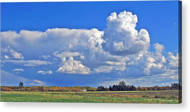 Landscape Acrylic Print featuring the photograph September Clouds by Bill Morgenstern