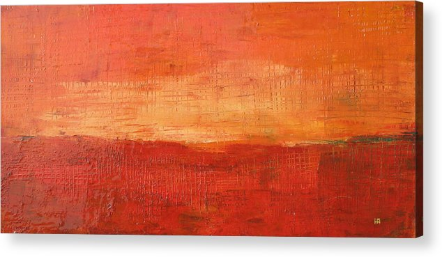 Abstract Acrylic Print featuring the painting Sunset by Habib Ayat