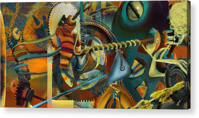 Science Acrylic Print featuring the painting Tensile Test Of The Thread Of Patience by Anne Weirich