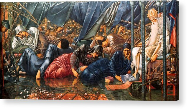 The Acrylic Print featuring the painting The Council Chamber 1890 by BurneJones Edward