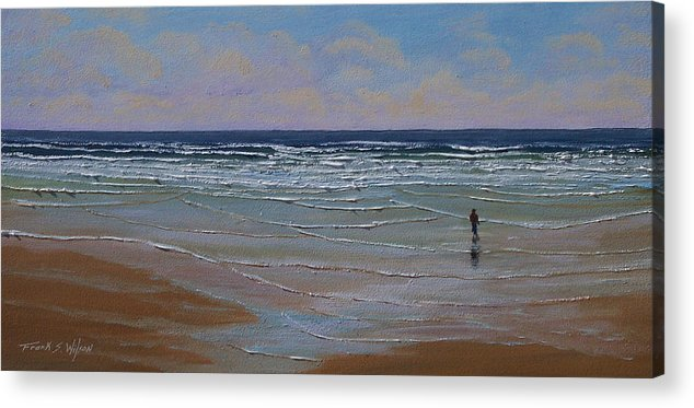 Seascape Acrylic Print featuring the painting The Surf Walker by Frank Wilson