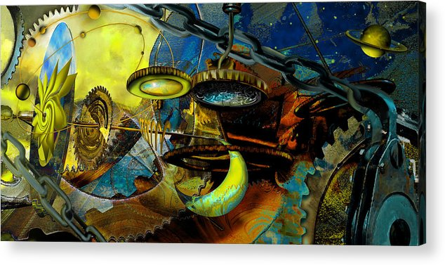 Science Acrylic Print featuring the painting The Wheelwork Of Antikythera by Anne Weirich