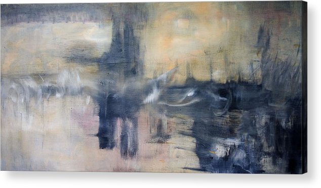 Cityscape Acrylic Print featuring the painting Untitled by Shawnequa Linder