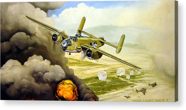 Aviation Acrylic Print featuring the painting Wild Cargo by Marc Stewart
