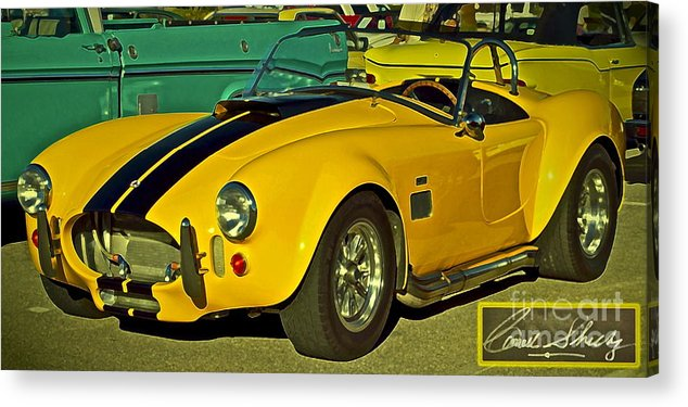 Cobra Acrylic Print featuring the photograph Yellow Cobra by Gwyn Newcombe