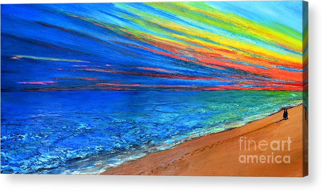 Art Acrylic Print featuring the painting I Am Not Alone by Patricia Awapara