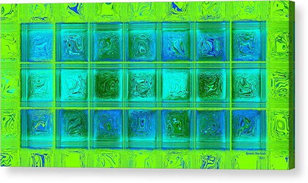 Painting Acrylic Print featuring the digital art AD7 by Renato Machado