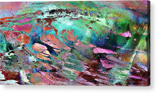 Large Abstract Acrylic Print featuring the mixed media Guided By Intuition - Abstract Art by Jaison Cianelli