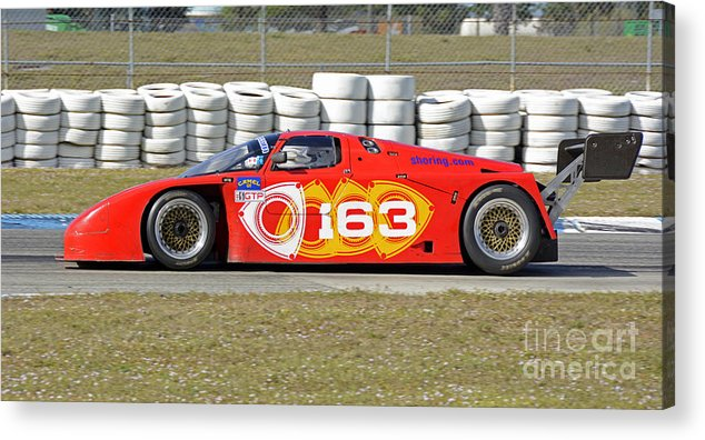 Automobile Acrylic Print featuring the photograph Argo Mazda Gtp Race Car At Sebring Raceway by Tad Gage