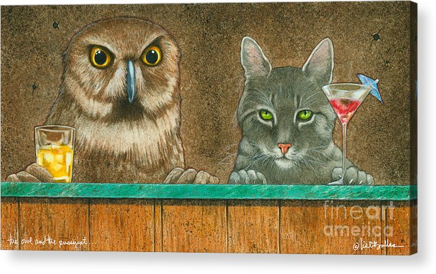 Will Bullas Acrylic Print featuring the painting The Owl And The Pussycat... by Will Bullas