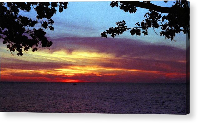Sunset Acrylic Print featuring the photograph 070506-68 by Mike Davis