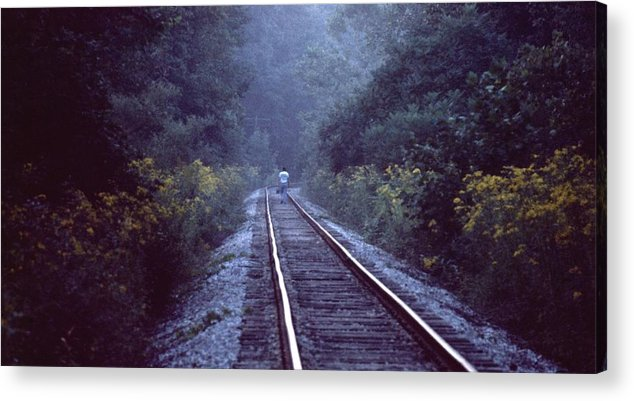 Walking Acrylic Print featuring the photograph Solitude 031307-66 by Mike Davis