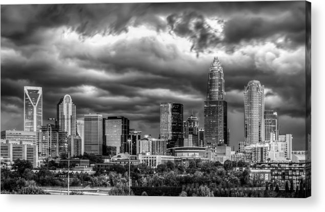 Charlotte Acrylic Print featuring the photograph Ominous Charlotte Sky by Chris Austin