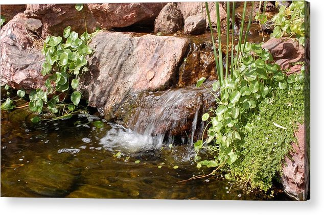 Waterfall Acrylic Print featuring the photograph A Little Waterfall by Susan Heller