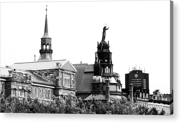 Montreal Port View Acrylic Print featuring the photograph Montreal Port View by John Rizzuto