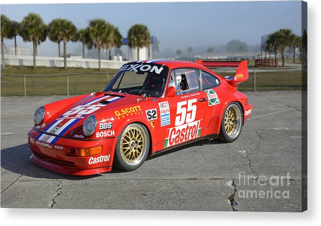 Automobile Acrylic Print featuring the photograph Porsche Rsr Race Car At Sebring by Tad Gage