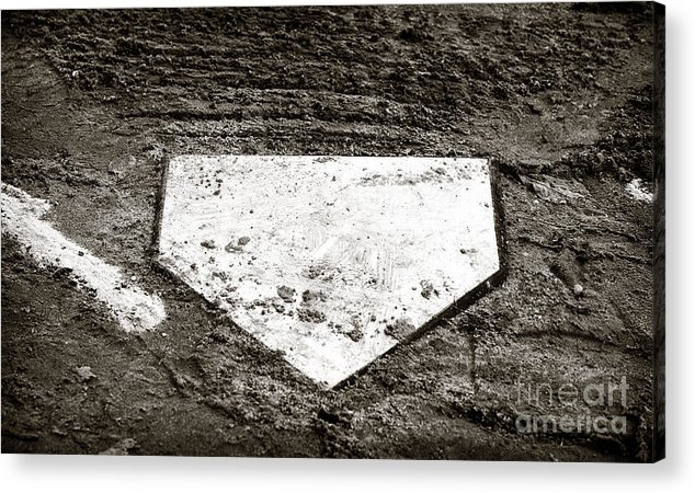 Home Plate Acrylic Print featuring the photograph Home Plate by John Rizzuto
