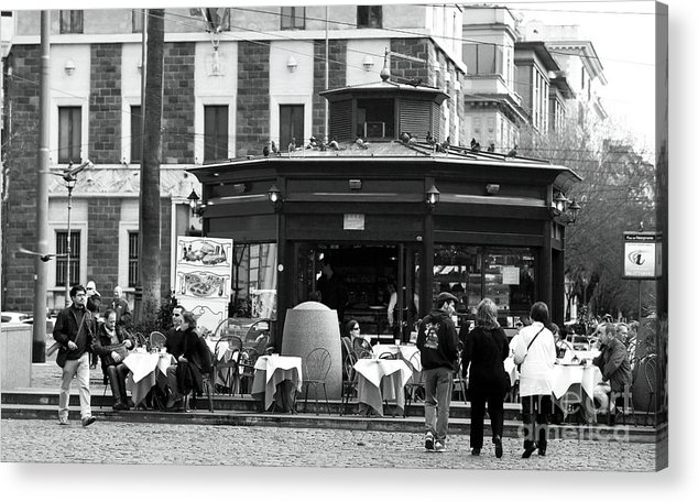 Roma Cafe Acrylic Print featuring the photograph Roma Cafe by John Rizzuto
