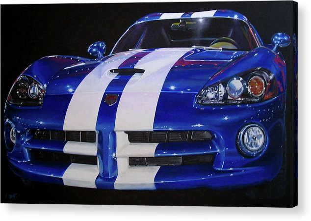 Car Acrylic Print featuring the painting Snake Eyes by Lynn Masters