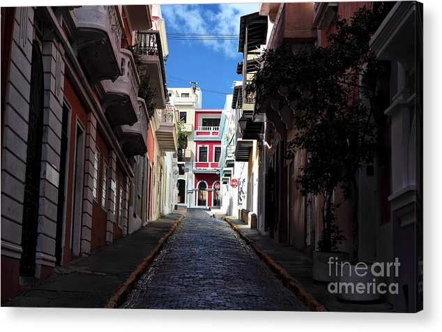 San Juan Alley Acrylic Print featuring the photograph San Juan Alley by John Rizzuto