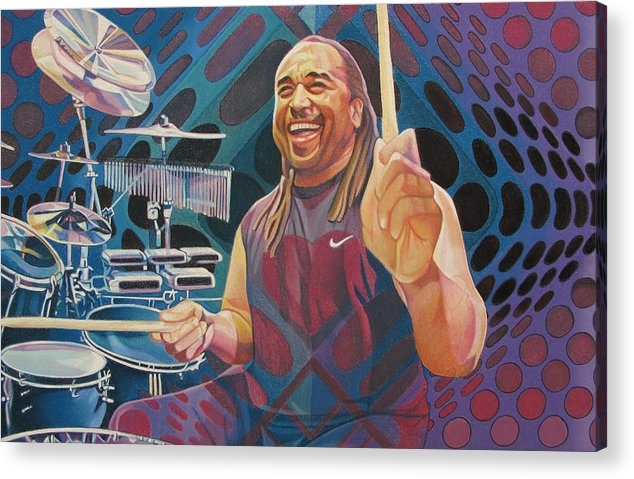 Carter Beauford Acrylic Print featuring the drawing Carter Beauford-op Series by Joshua Morton