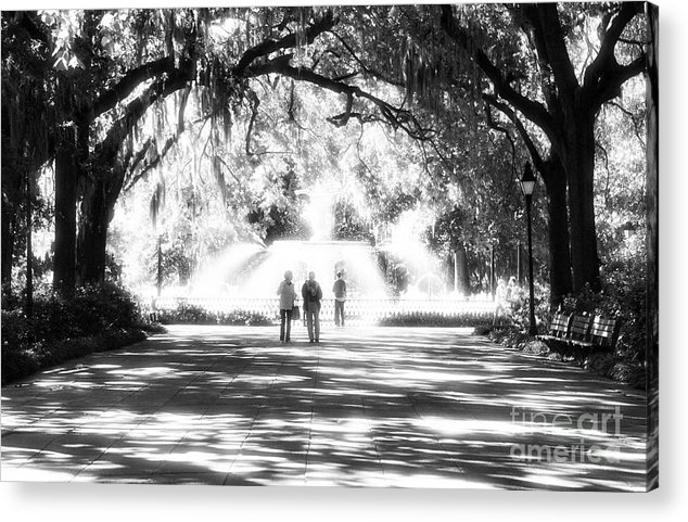 The Park Acrylic Print featuring the photograph The Park by John Rizzuto