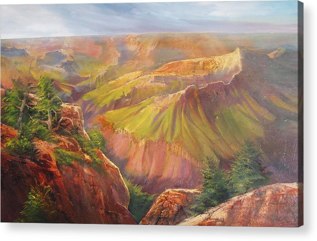 Grand Canyon Acrylic Print featuring the painting Grand Canyon by Robert Carver