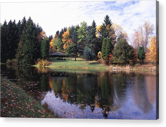 Autumn Colors Acrylic Print featuring the photograph 102201-23 by Mike Davis