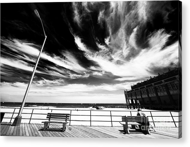 Asbury Park Acrylic Print featuring the photograph Alone In Asbury Park by John Rizzuto