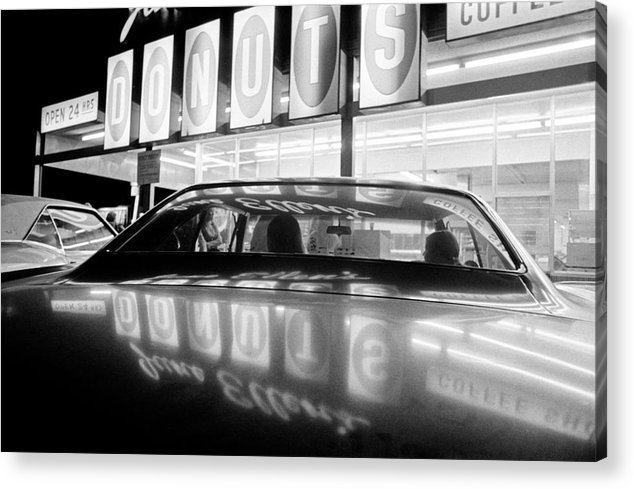 June Ellen's Acrylic Print featuring the photograph Vn Blvd.-029-30a Donuts Reflection by Richard McCloskey