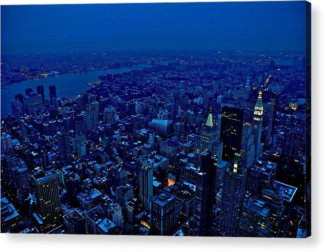 New York Landscape Acrylic Print featuring the photograph Empire State Of Mind Cold by Brian Cruz