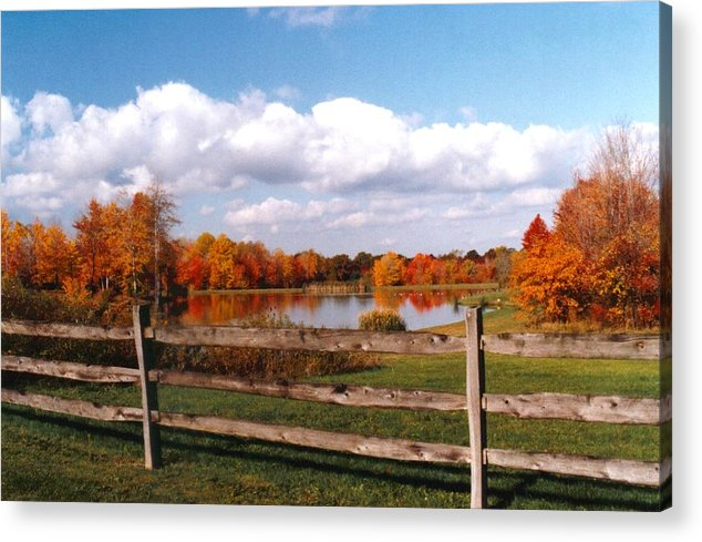 Autumn Colors Acrylic Print featuring the photograph 070506-44 by Mike Davis