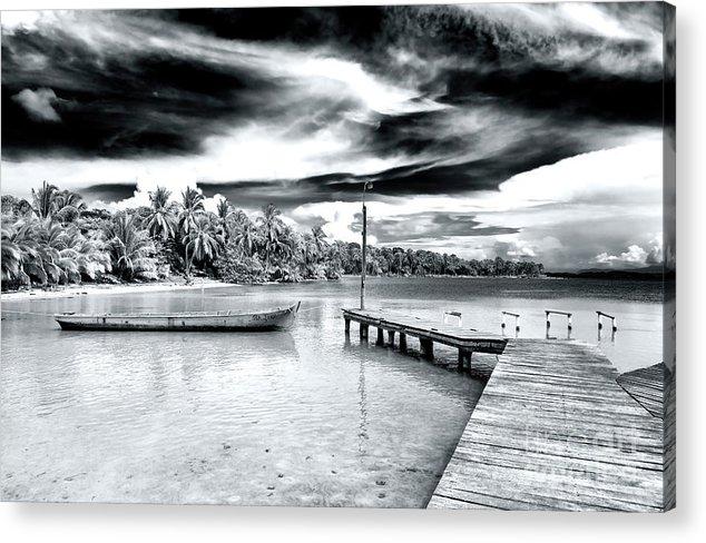 Calm At Bocas Del Drago Acrylic Print featuring the photograph Calm At Boca Del Drago Panama by John Rizzuto
