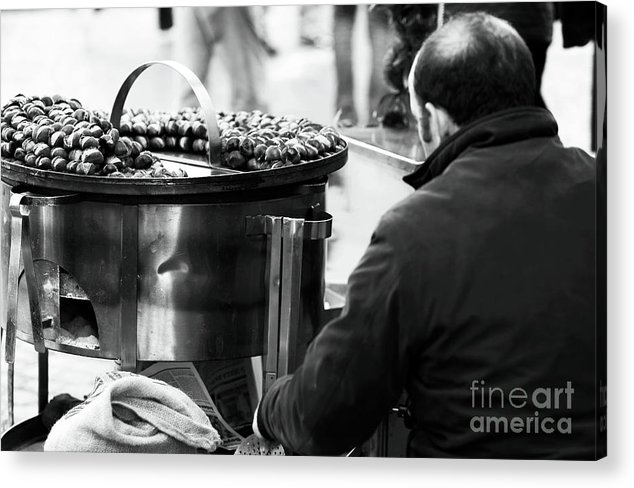 Pictures Acrylic Print featuring the photograph Chestnuts In Rome by John Rizzuto