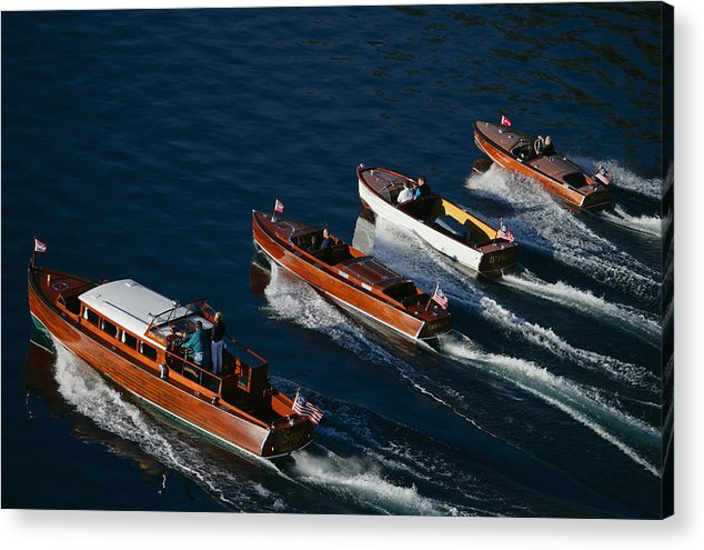 Riva Acrylic Print featuring the photograph Classic Woodies by Steven Lapkin