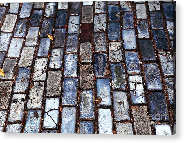 Brick Street Acrylic Print featuring the photograph Brick Street by John Rizzuto