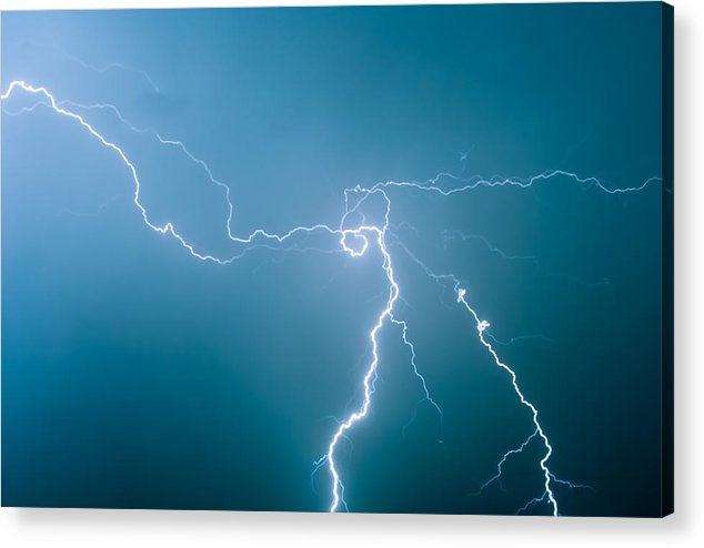 Summer Acrylic Print featuring the photograph High Voltage by Vadim Grabbe