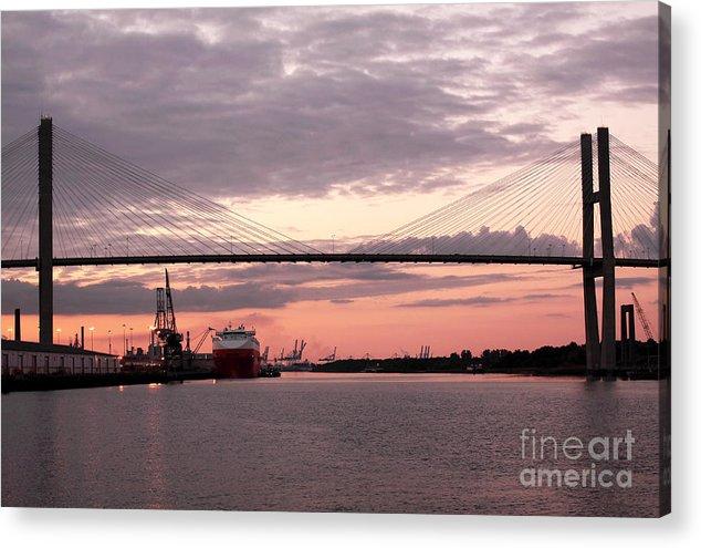 Architecture Acrylic Print featuring the photograph Talmadge Memorial Bridge by John Rizzuto