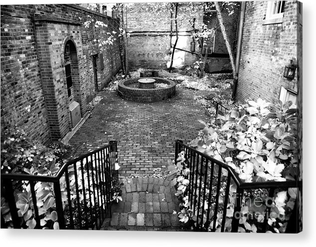 The Courtyard At The Old North Church Acrylic Print featuring the photograph The Courtyard At The Old North Church by John Rizzuto