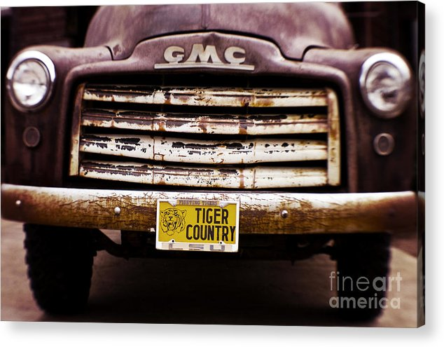 Lsu Acrylic Print featuring the photograph Tiger Country - Purple And Old by Scott Pellegrin