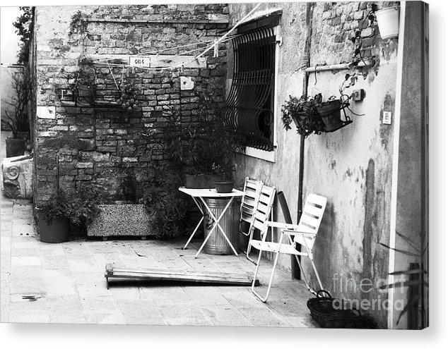 Venetian Street Scene Acrylic Print featuring the photograph Venetian Street Scene by John Rizzuto