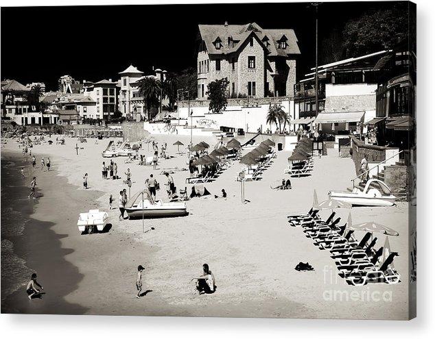 Vintage Cascais Beach Acrylic Print featuring the photograph Vintage Cascais Beach by John Rizzuto