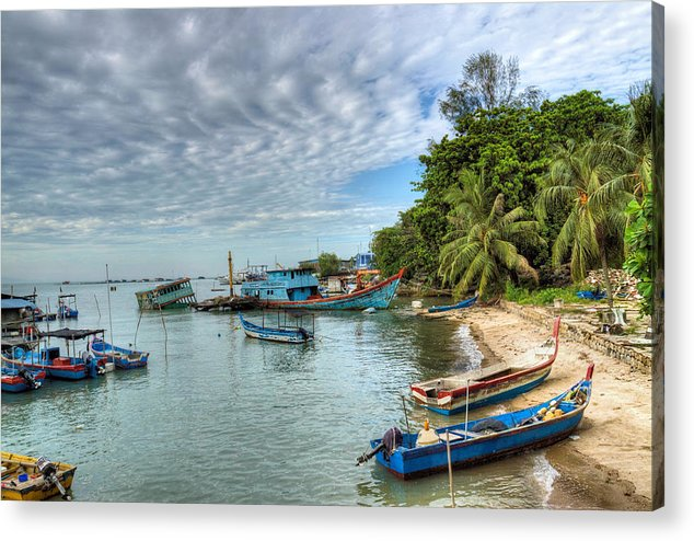 Fishing Village Acrylic Print featuring the photograph Fishing Village by KH Lee