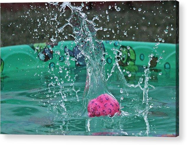 Water Acrylic Print featuring the photograph Splash Pool by Judith B Adams