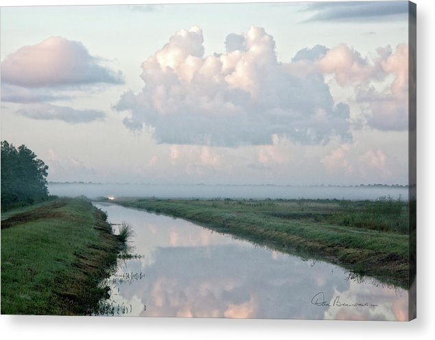 Foggy Acrylic Print featuring the photograph Foggy Alligator River Refuge 1846 by Dan Beauvais