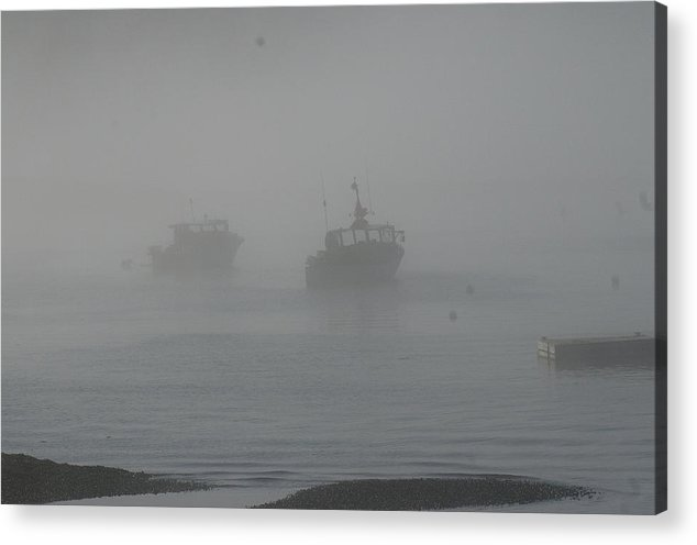 Maine Acrylic Print featuring the photograph Lobster Boats by David Campione