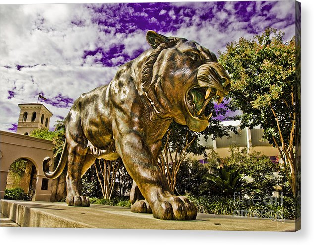 Statue Acrylic Print featuring the photograph Purple And Gold by Scott Pellegrin