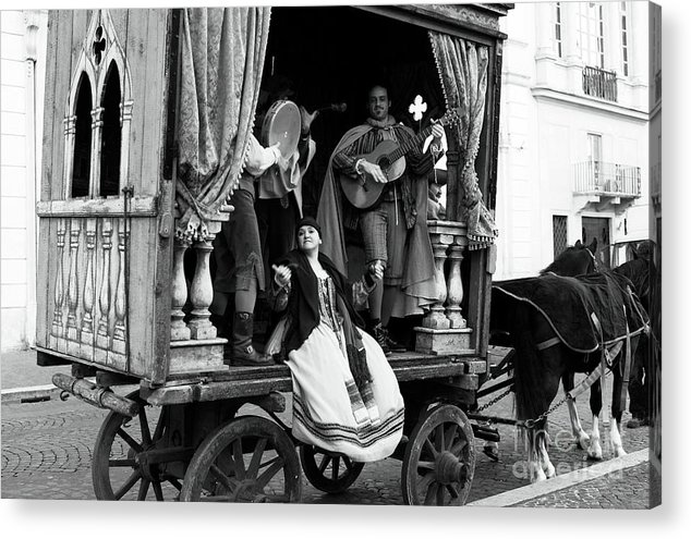 Pictures Acrylic Print featuring the photograph Roma Performers by John Rizzuto